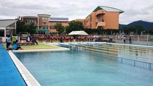 水泳記録会を行いました