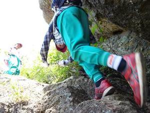 中川小の児童と岩部山に登りました