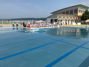 水泳授業が始まります