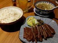 牛たん定食…徳茂(青葉区一番町アーケード街)