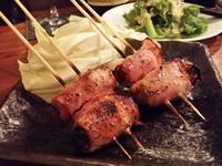 牡蠣のベーコン巻き…ワインと炭火串焼「源介(げんすけ)」