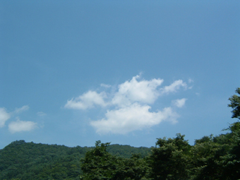 空は青! 岩手です。