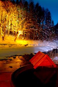 雪景色 ライトアップ