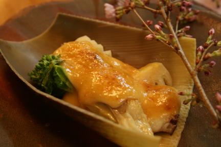 竹の子味噌マヨ焼き