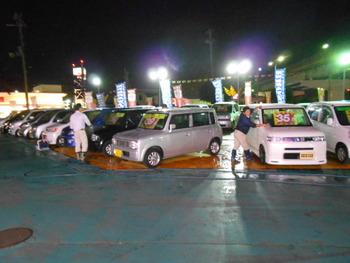 夜洗車!!