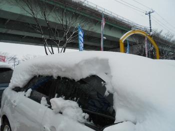 雪が重い!!