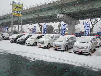 雪ですね~!!