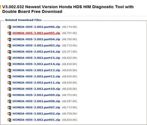 Honda HDS HIM V3.002.032ソフトウェアの無料ダウンロード