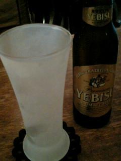 お昼からビール