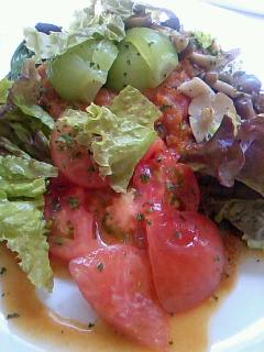 トマトとチンゲンサイのカレー
