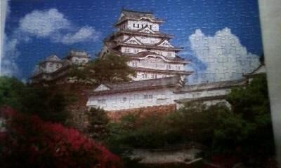 ツツジ咲く白鷺城