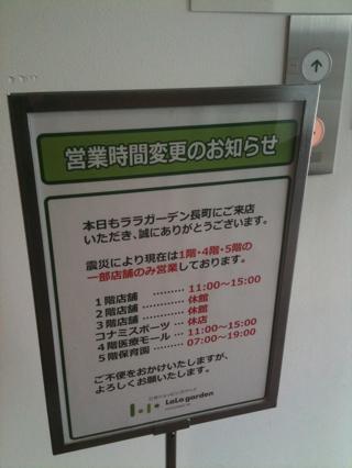 三神峯公園桜咲く、ららガーデン長町再開
