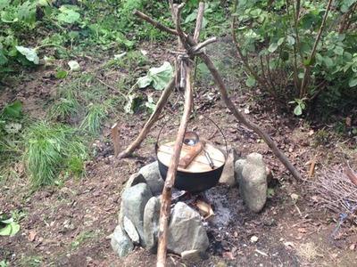 作並温泉で芋煮パーリー。