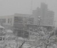 公立高校一般入試合格発表の朝は大雪です