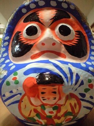 松川だるま,仙台の青いだるま