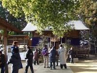 どんと焼きは多賀神社で