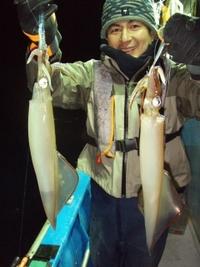 今年の初釣りは好調ヤリイカ