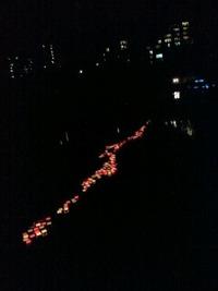 広瀬川灯籠流し④