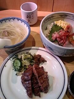 牛タンwith海鮮丼in利久