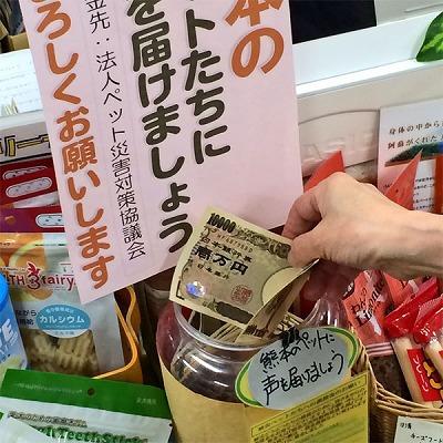 太白区のみなさまへ...熊本被災ペット支援チャリティ募金のおねがい
