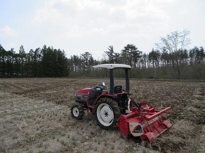 我が家も田耕しと肥料散布を行いました。