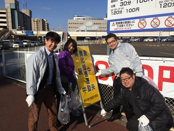 「チームSWING」が泉中央地区の一斉清掃で大活躍!