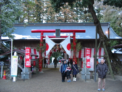 寒い日に「賀茂神社」に行きました。