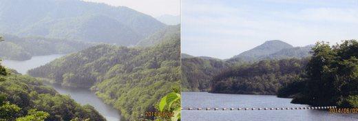 岩洞沢ダムから見た箕輪山