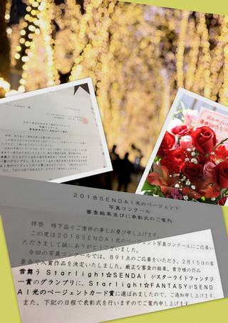 PLEASE☆★2018SENDAI光のページェント写真コンクール★☆グランプリ頂きました! プリーズ☆加川