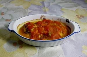 ● 魚と野菜のアンチョビーソース焼き ●