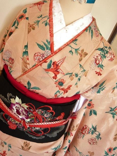 新作 羽織紐* ~春の薔薇~