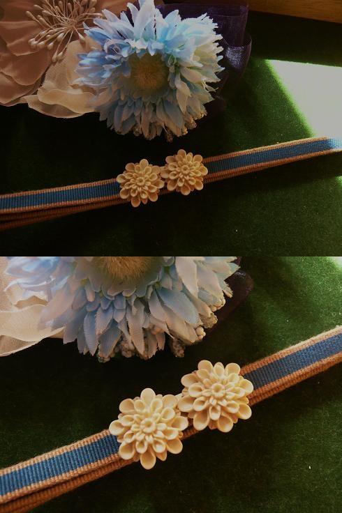 新作はお花モチーフ♪ 着物クリップ&再販帯留めセット