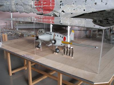 一式双発高等練習機の大型ソリッドモデル展示中