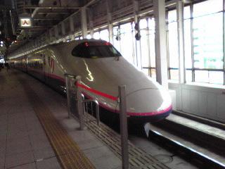 新幹線で〜。