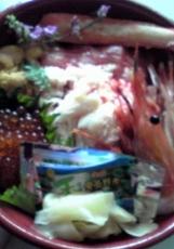 スーパーの海鮮丼