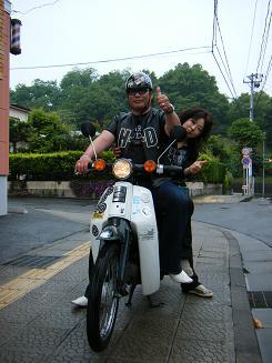 エコドライブ☆スーパーCUB!!白と黒