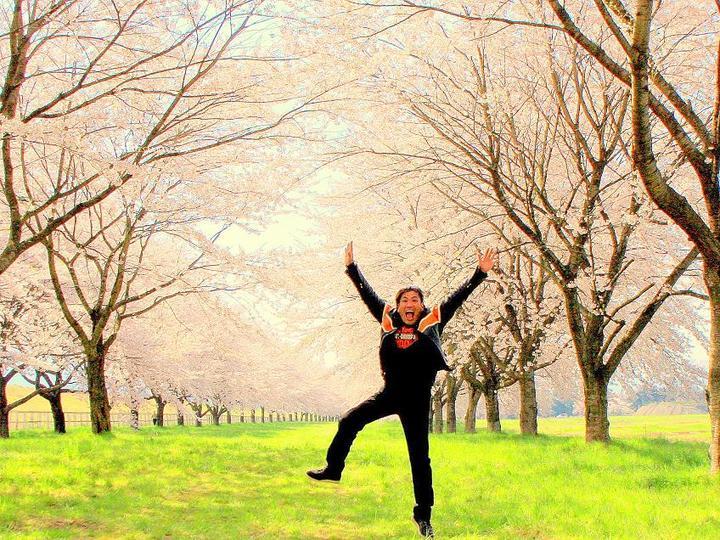 春も逢いに。。一本桜   仙台泉区理容美容ヘア プリーズ☆