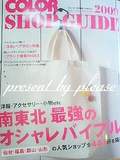 COLOR SHOP GUIDE 2009仙台プリーズ☆加川