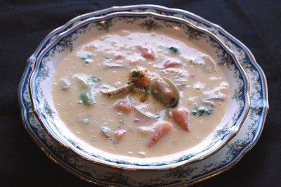 アサリとトマトのカレースープです。