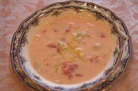 フレッシュなトマトとミルクの美味し~いスープです。