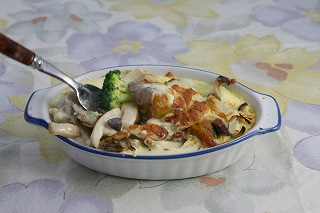 茹で野菜のグラタン