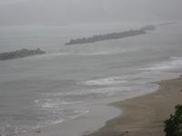 台風18号通過