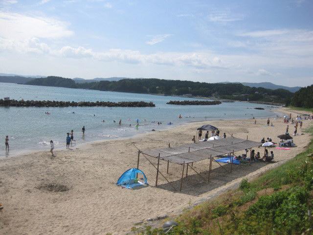 台風の影響もなく 海水浴は最高