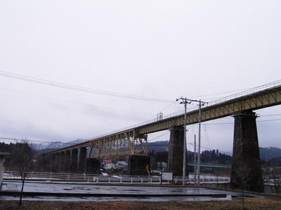 磐越西線 一ノ戸川鉄橋♪