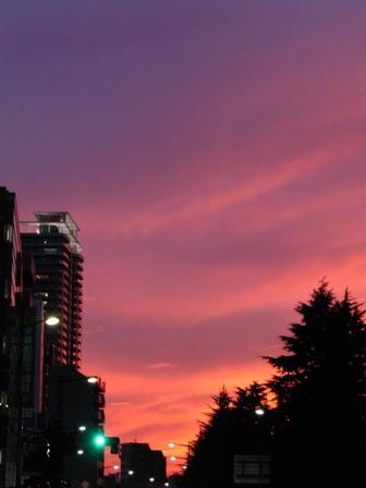 仙台の夕焼け空