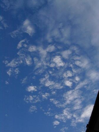 今朝の お空
