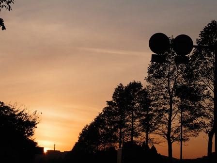 仙台の夕日