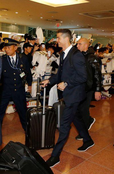 ロナウド選手と日本の追っかけファン