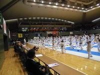 駒沢オリンピック記念体育館での空手大会