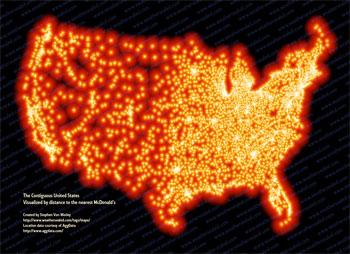 全米のマクドナルドをマッピング